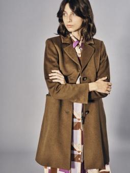 Sand Britni Cashmere Coat