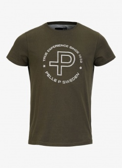 Pelle P T-shirt Circle Print Khaki Green