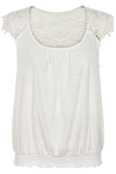 Cream Kaily Top Chalk