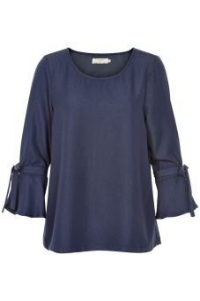 Cream Valery Blouse Royal Navy Blue