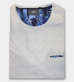Dahlin T-shirt med huggen ficka - Vit