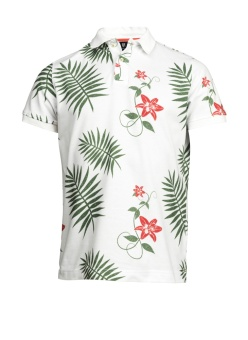Hansen&Jacob Jungle Flowe Polo White