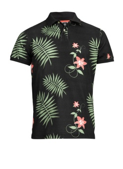 Hansen & Jackob Jungle Flower Polo Navy