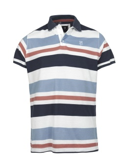 Hansen&Jacob  Multistripe Polo Cotton Mel.