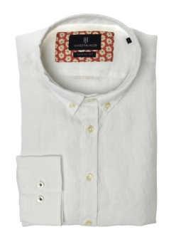 Hansen&Jacob Shirt Linen Delavé White