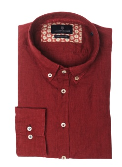 Hansen&Jacob Shirt Linen Delavé Red