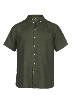 Hansen&Jacob Shirt Linen Short Sleeve Green
