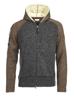 Hansen&Jacob 2stone knitted hoodie Multi Colour
