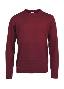 Hansen%Jacob 2-tone step knit Dubonet Red
