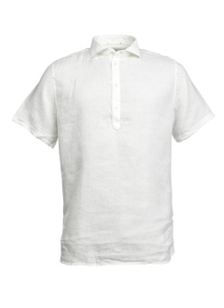 Hansen & Jacob Short Sleeve Linen Shirt White