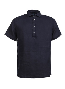 Hansen & Jacob Short Sleeve Linen Shirt Navy