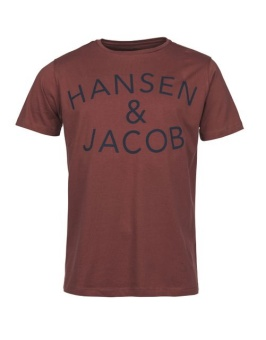 Hansen&Jacob HJLogo Tee Dark Red