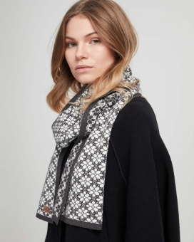 Holebrook Visingsö Scarf Anthracite Mel/Off White