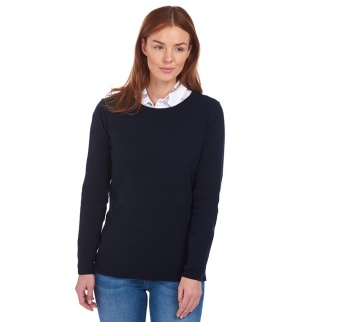 Barbour Pend Crew Knit Navy