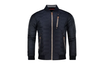 Pelle P Quilted Bomber Jacket Dk Navy