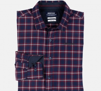 Sebago Maritime Checked Shirt Navy/Red