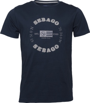 Sebago Edward Logo Tee Navy