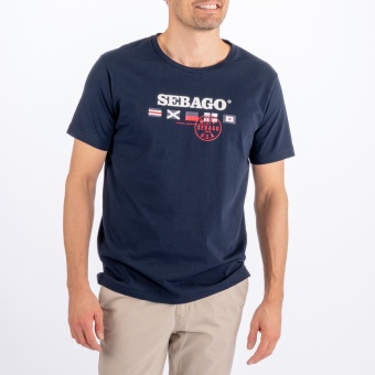 Sebago Flag Logo Tee Bright Navy