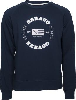Sebago Logo Crew Neck Navy