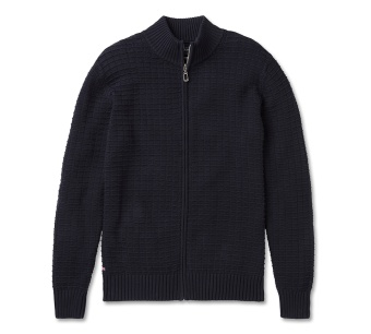 Sebago Links Zip Cardigan Knit Navy
