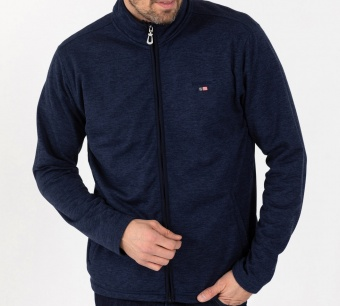 Sebago Zip fleece jacket Navy Melange