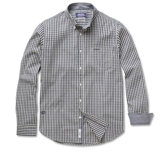 Sebago Pope Pinpoint Check Shirt B:D Navy/Light Sand