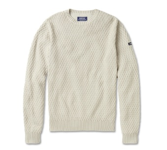 Sebago Tucker Crew Neck Winter White