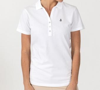 Sebago Classiv Polo Pique White