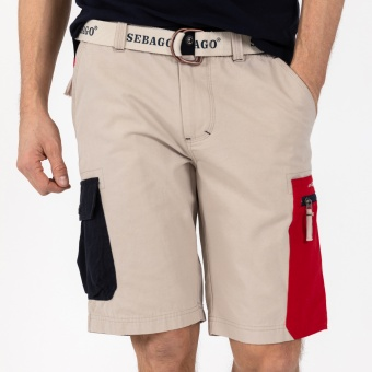Sebago Red Pocket Shorts Beige