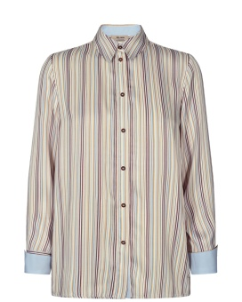 Mosmosh Jodie River Shirt Light Blue Stripe