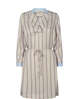 Mosmosh Lipa River Dress Light Blue Stripe