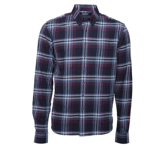 Sebago Luke Brushed Check Shirt Wine/Navy