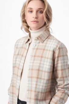 Boomerang Anja Checked Shirt Beige