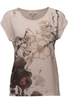 Cream Ally T-shirt Spring Rose