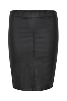 Kaffe Ada Coated Skirt Black Deep