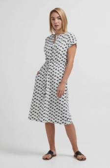 Holebrook Fiona Dress Off White/Ginko