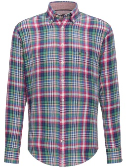 Fynch Hatton The linen Combi Shirt Regular Check