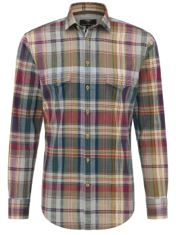 Fynch Hatton Skjorta Multicolour Check