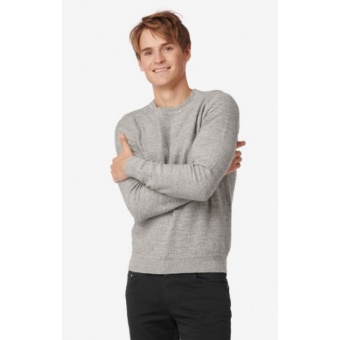 Boomerang Uno Uneaven Cotton Crew Sweater