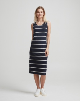Holebrook Natalie Tank Dress Navy/OffWhite