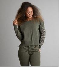 Odd Molly Whirley sweater Dark Cargo
