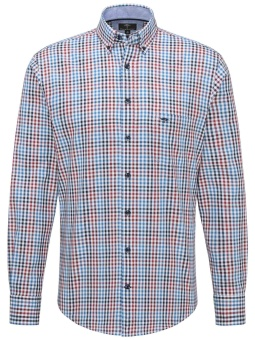 Fynch Hatton Supersoft Twill Shirt Zinfandel Blue
