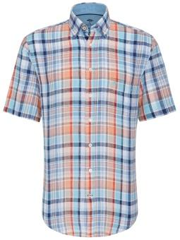 Fynch Hatton Skjorta kortärm i Lin