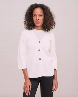 Newhouse Leonor Cardigan Off white