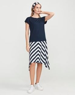 Holebrook Melanie Skirt White/Navy