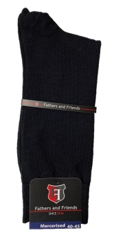 Fathers & Friends Mercerised Black