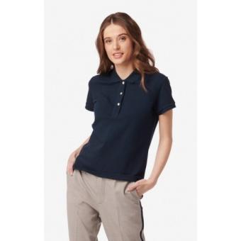 Boomerang Mary Polo Pique Shirt Midnight Blue