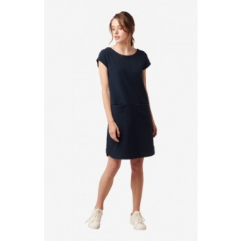 Boomerang Millie Pique Dress Midnight Blue