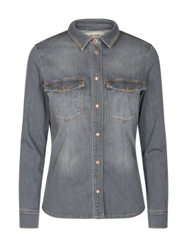 Mosmosh Selby Shade Denim Shirt Grey