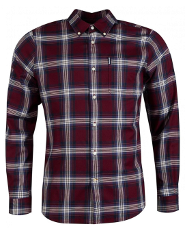 Barbour Highland Check 21 Taliored - Merlot